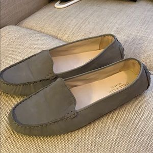 Cole Haan Grey Suede Driving Moccasin
